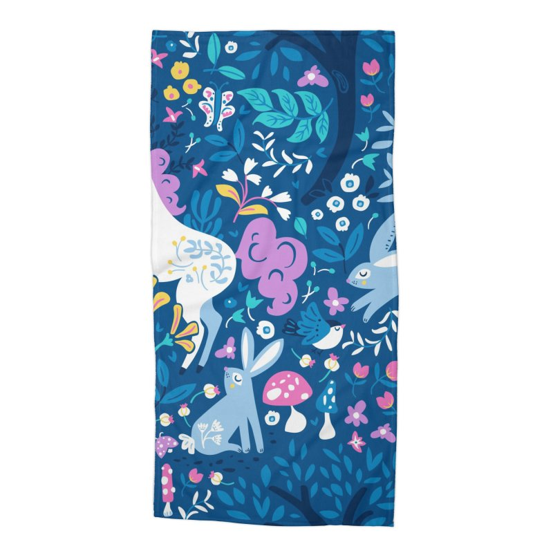 Woodland Folk Accessories Beach Towel by Anna Deegan's Artist Shop