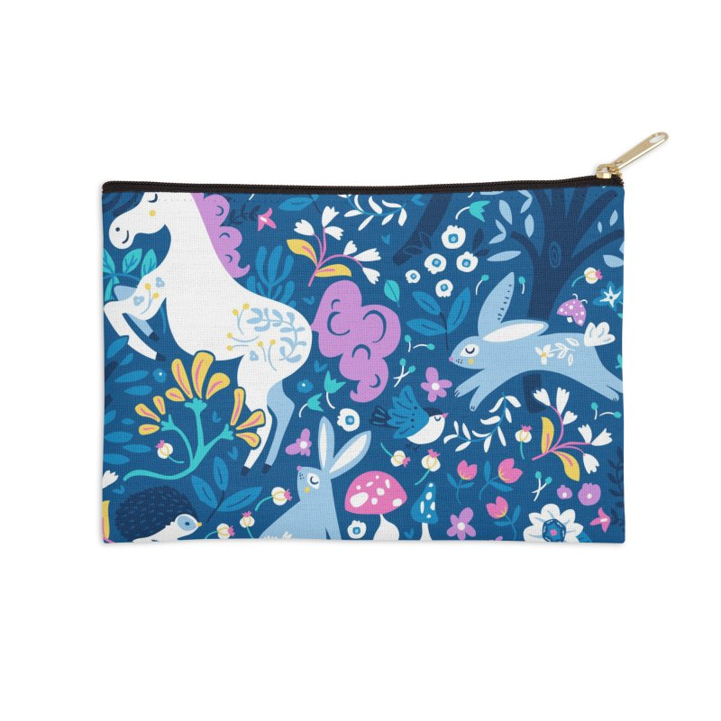 Woodland Folk Accessories Zip Pouch by Anna Deegan's Artist Shop