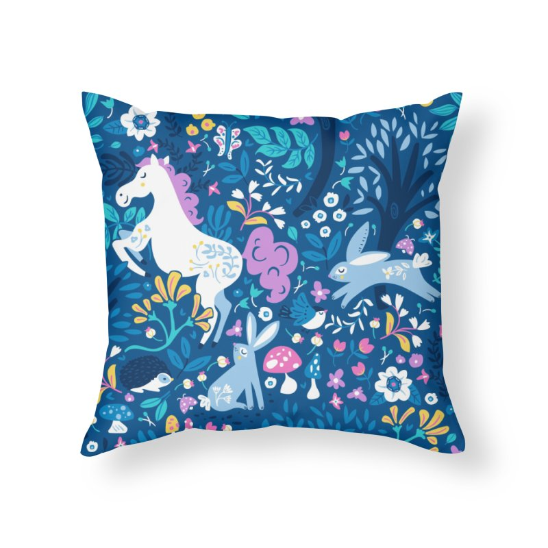 Woodland Folk Home Throw Pillow by Anna Deegan's Artist Shop