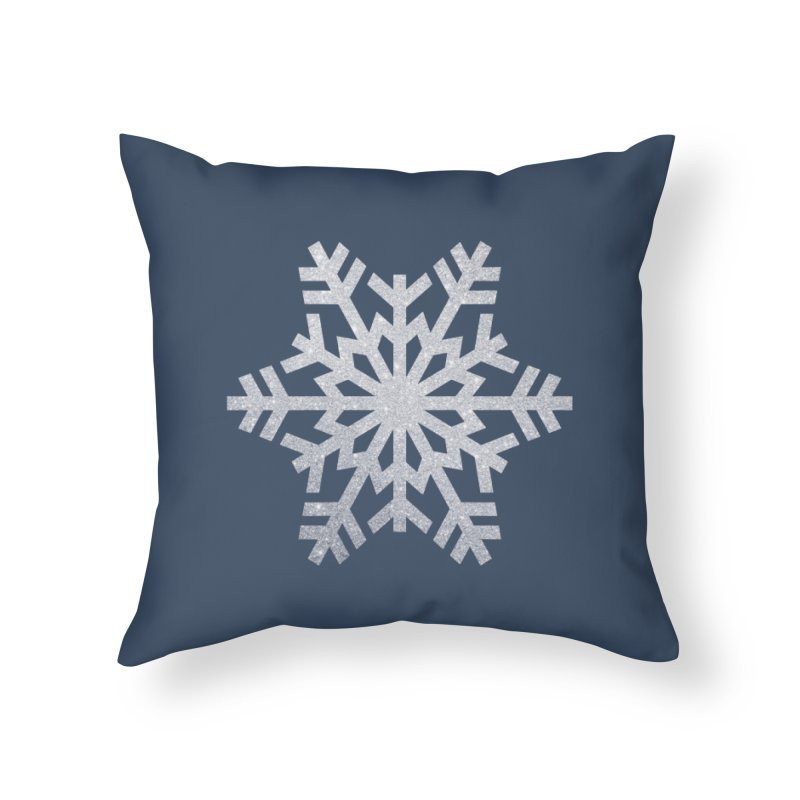 Sparkling Snowflake On A Winter's Night in Throw Pillow by AnnaF31's Artist Shop