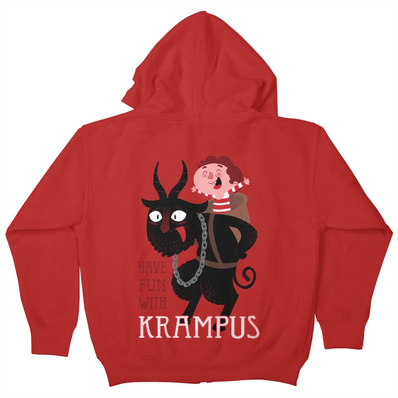 Have fun with Krampus Kids Zip-Up Hoody by The Art of Anna-Maria Jung