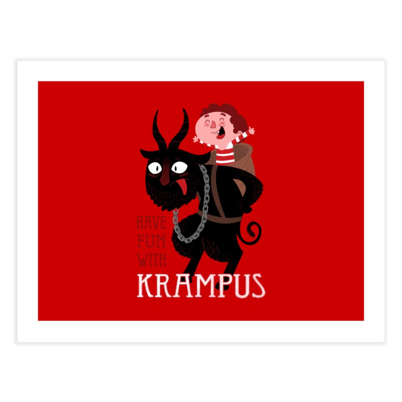 Have fun with Krampus Home Bath Mat by The Art of Anna-Maria Jung