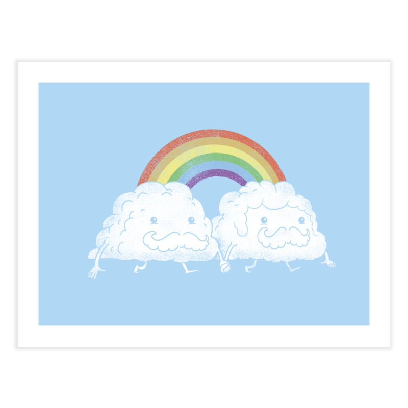 Gay Clouds Home Bath Mat by The Art of Anna-Maria Jung