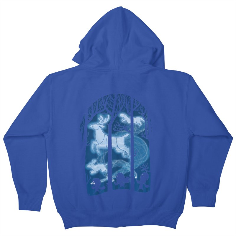 Race of the Patronuses Kids Zip-Up Hoody by The Art of Anna-Maria Jung