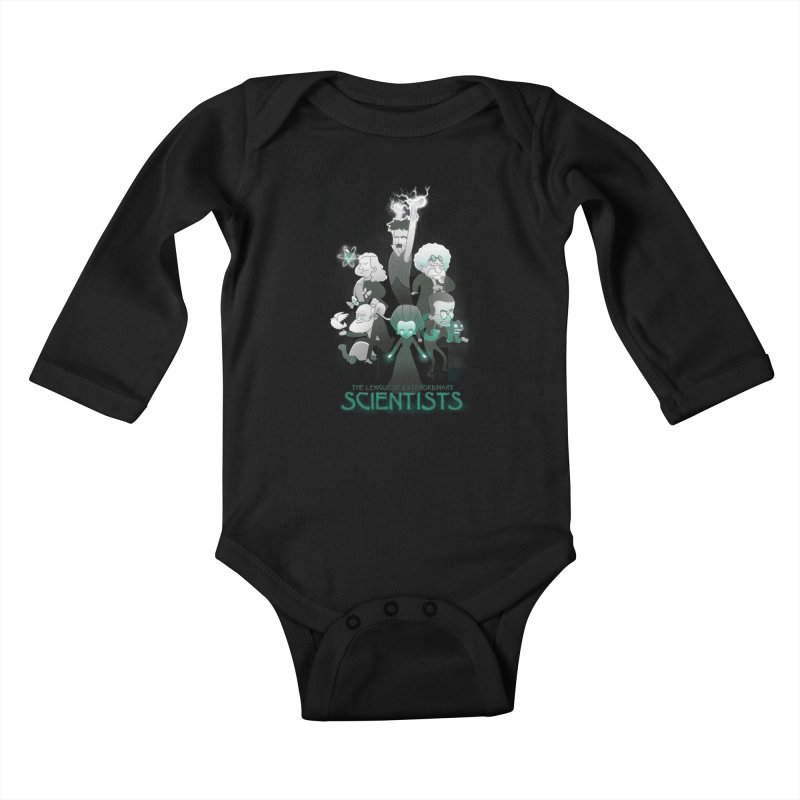 League of Extraordinary Scientists Kids Baby Longsleeve Bodysuit by The Art of Anna-Maria Jung