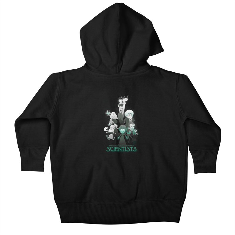 League of Extraordinary Scientists Kids Baby Zip-Up Hoody by The Art of Anna-Maria Jung