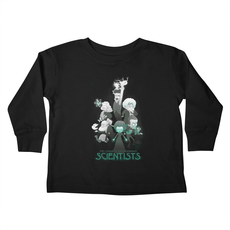 League of Extraordinary Scientists Kids Toddler Longsleeve T-Shirt by The Art of Anna-Maria Jung