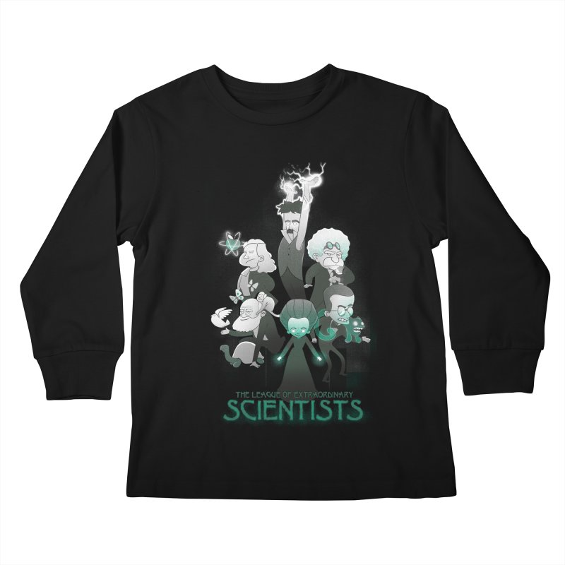 League of Extraordinary Scientists Kids Longsleeve T-Shirt by The Art of Anna-Maria Jung