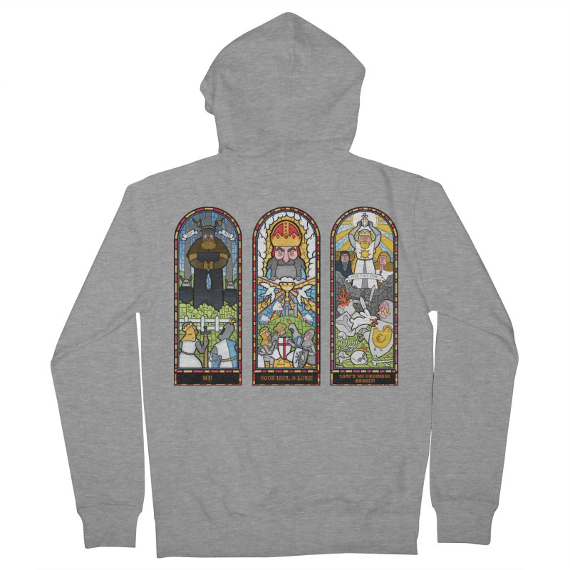 Triptych of Aaarrrgggh Men's Zip-Up Hoody by The Art of Anna-Maria Jung