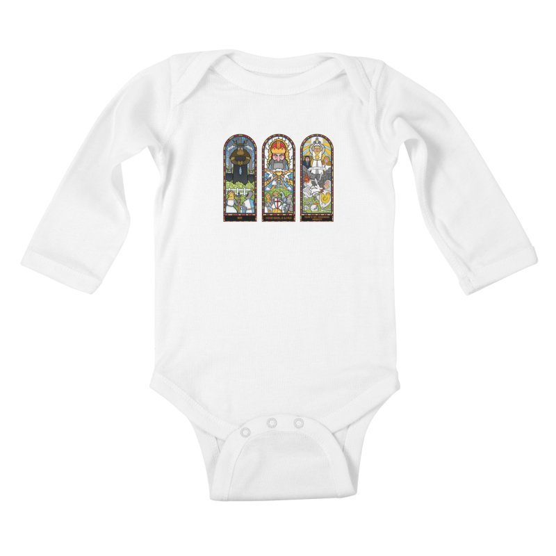 Triptych of Aaarrrgggh Kids Baby Longsleeve Bodysuit by The Art of Anna-Maria Jung