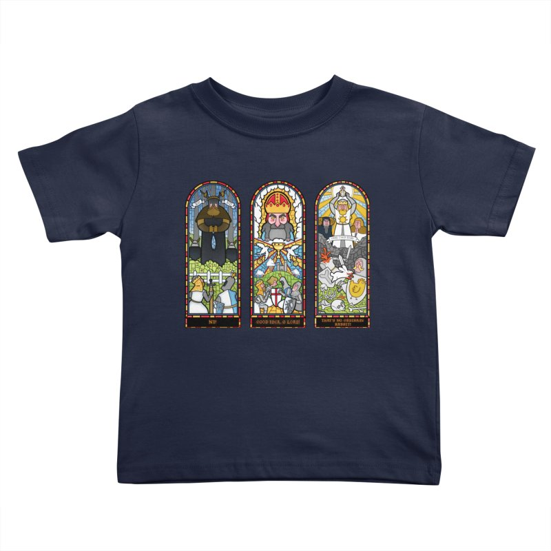 Triptych of Aaarrrgggh Kids Toddler T-Shirt by The Art of Anna-Maria Jung
