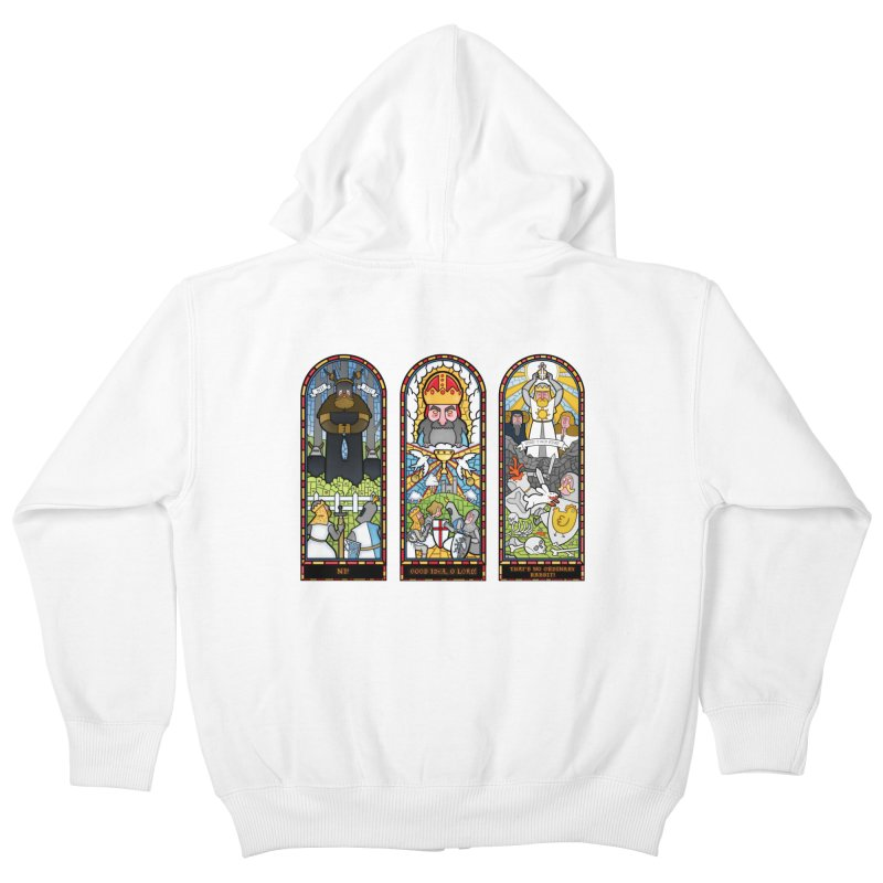 Triptych of Aaarrrgggh Kids Zip-Up Hoody by The Art of Anna-Maria Jung