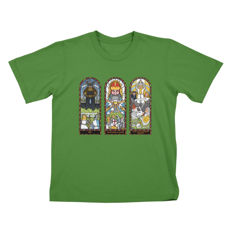 Triptych of Aaarrrgggh Kids T-shirt by The Art of Anna-Maria Jung