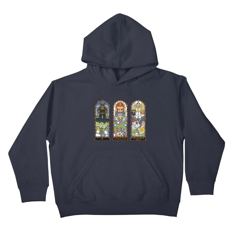 Triptych of Aaarrrgggh Kids Pullover Hoody by The Art of Anna-Maria Jung