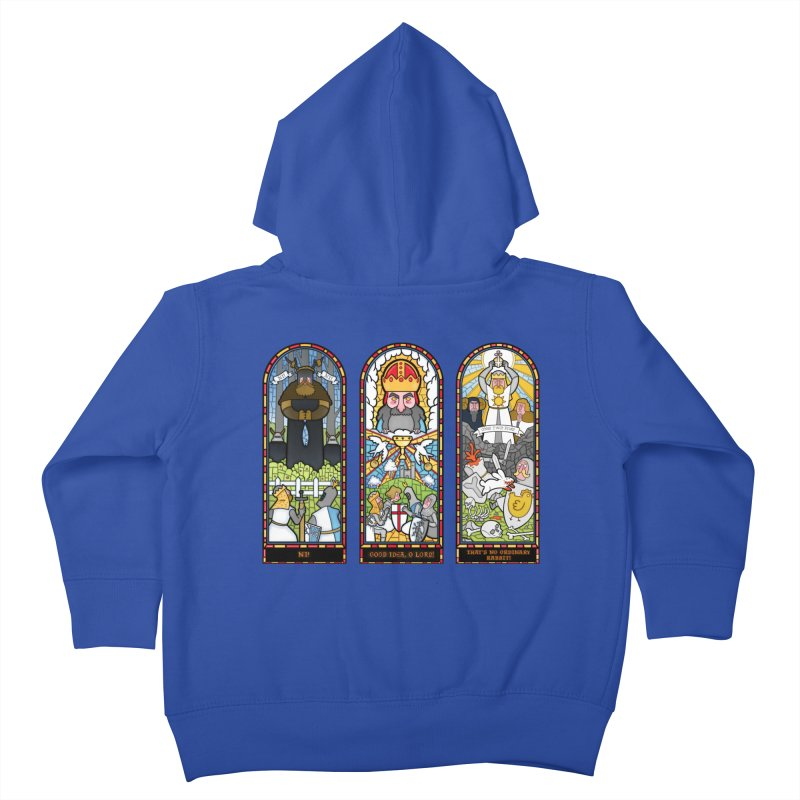 Triptych of Aaarrrgggh Kids Toddler Zip-Up Hoody by The Art of Anna-Maria Jung