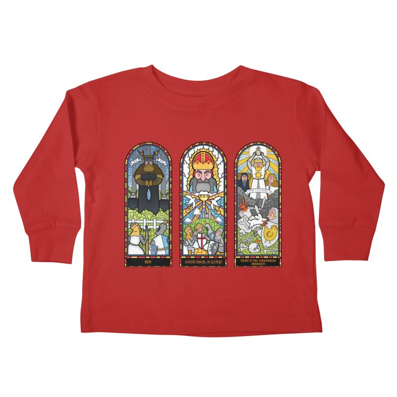 Triptych of Aaarrrgggh Kids Toddler Longsleeve T-Shirt by The Art of Anna-Maria Jung