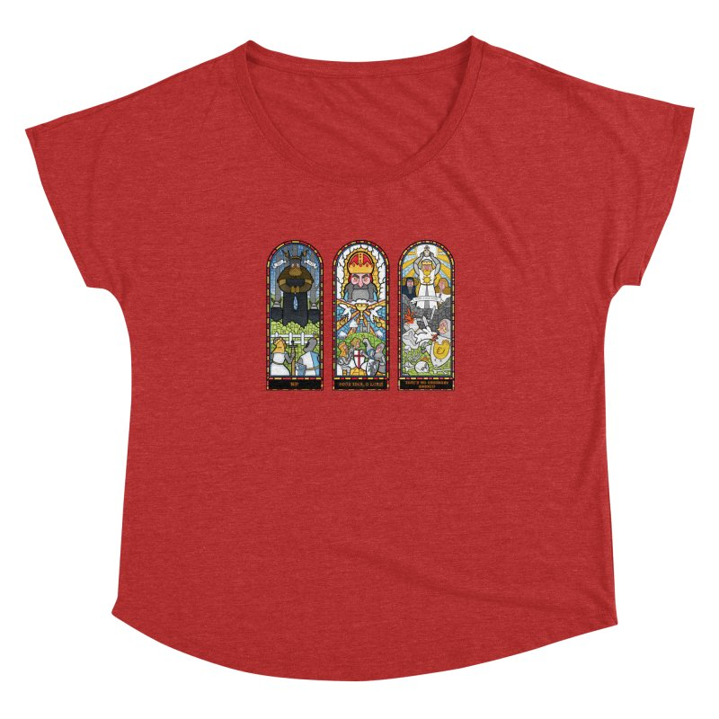Triptych of Aaarrrgggh Women's Dolman by The Art of Anna-Maria Jung