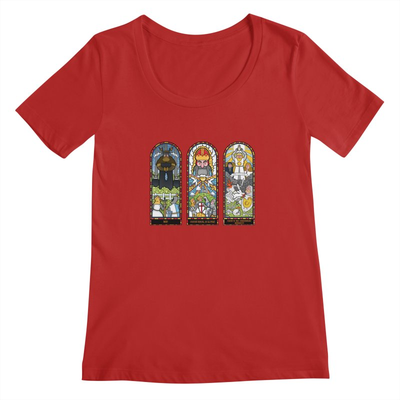Triptych of Aaarrrgggh Women's Scoopneck by The Art of Anna-Maria Jung