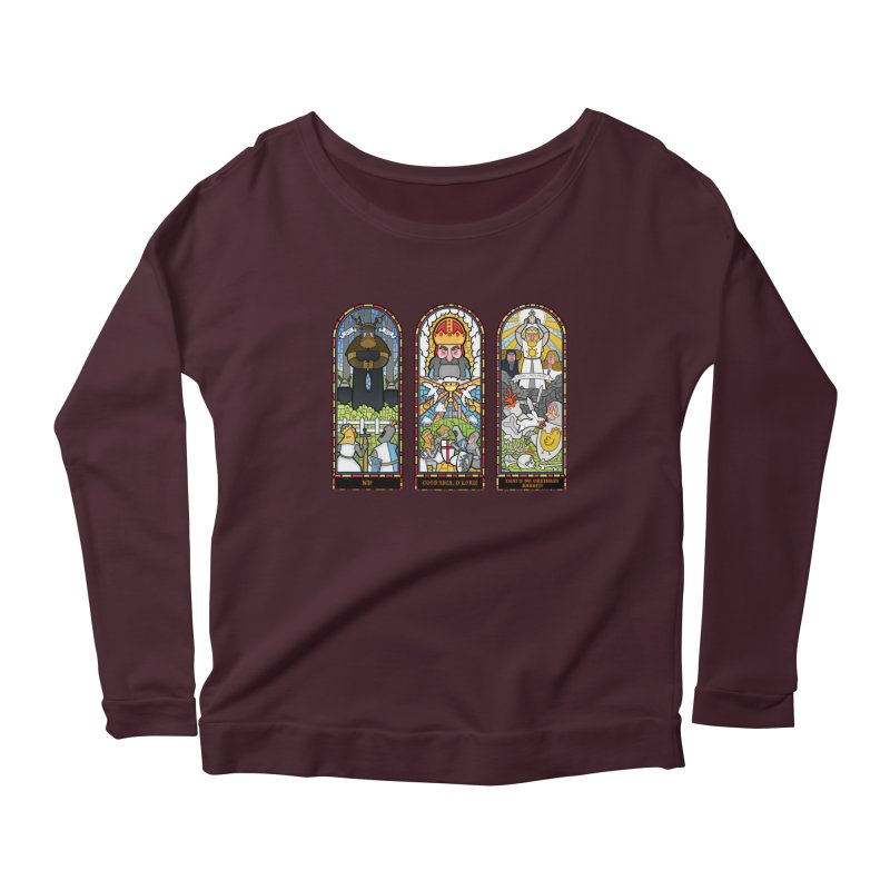 Triptych of Aaarrrgggh Women's Longsleeve Scoopneck  by The Art of Anna-Maria Jung
