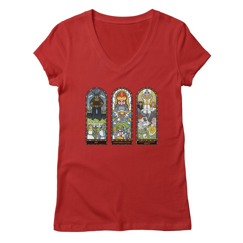 Triptych of Aaarrrgggh Women's V-Neck by The Art of Anna-Maria Jung