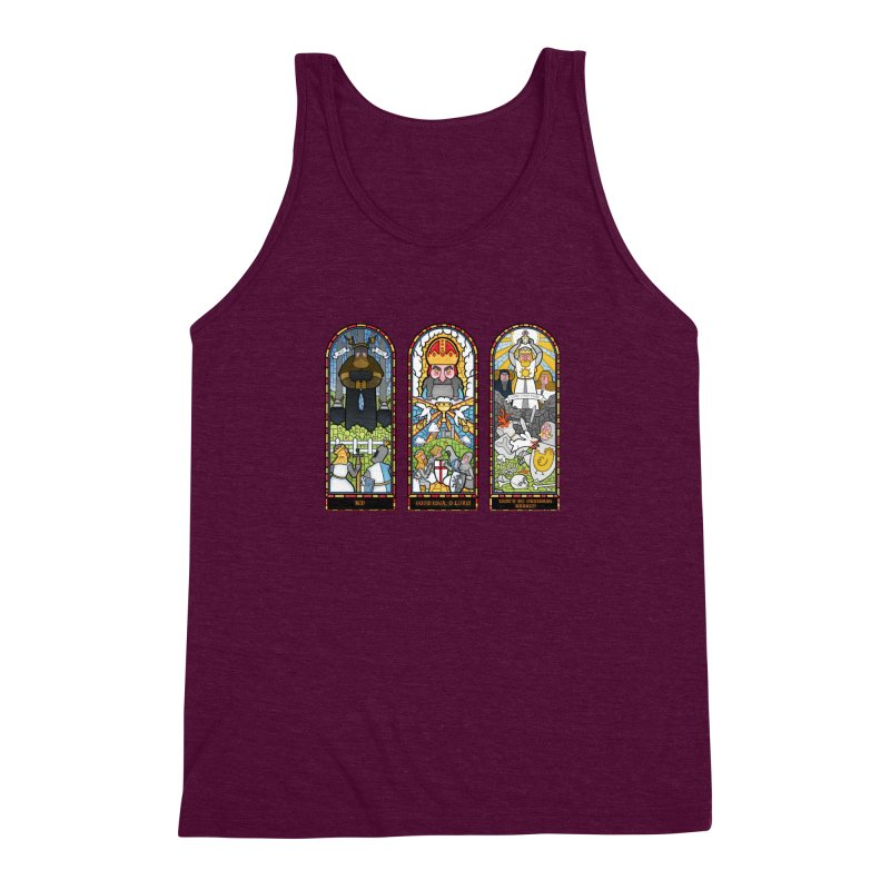 Triptych of Aaarrrgggh Men's Triblend Tank by The Art of Anna-Maria Jung