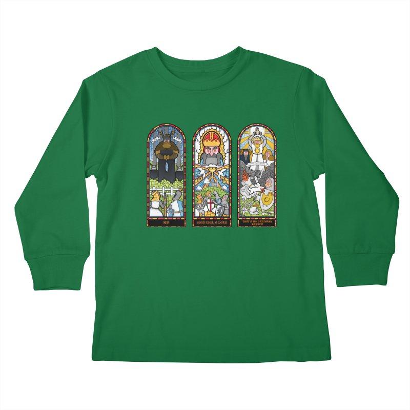 Triptych of Aaarrrgggh Kids Longsleeve T-Shirt by The Art of Anna-Maria Jung