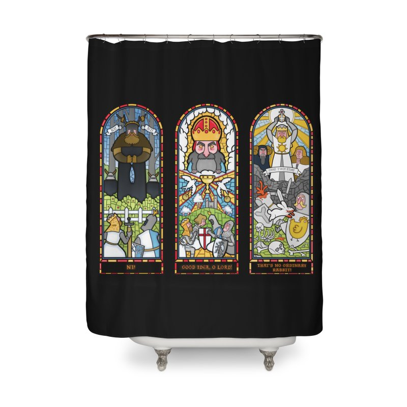 Triptych of Aaarrrgggh Home Shower Curtain by The Art of Anna-Maria Jung