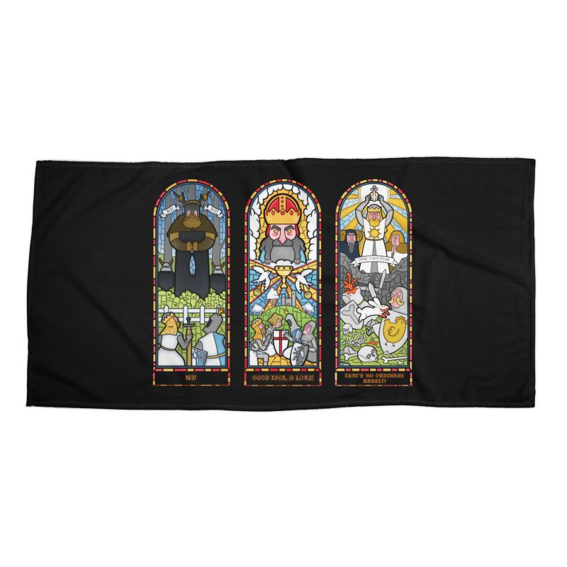 Triptych of Aaarrrgggh Accessories Beach Towel by The Art of Anna-Maria Jung