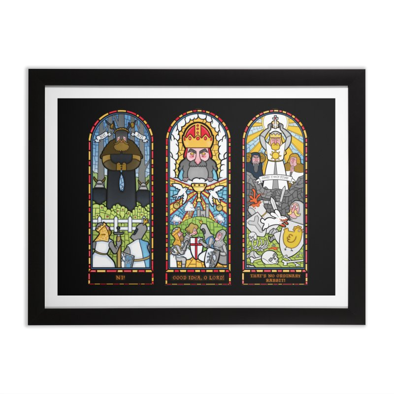 Triptych of Aaarrrgggh Home Framed Fine Art Print by The Art of Anna-Maria Jung