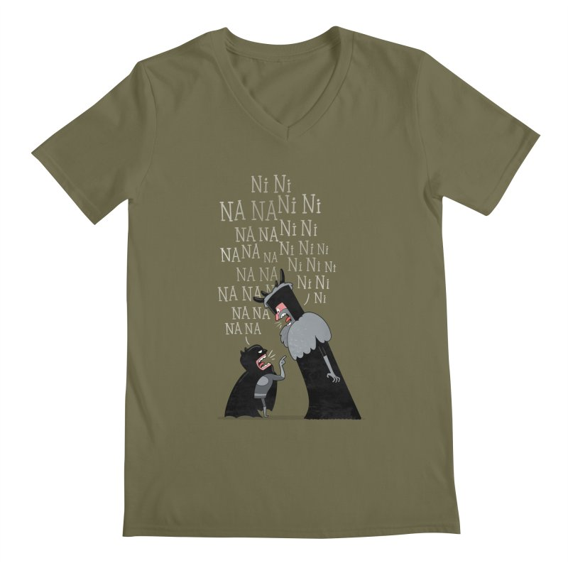 The Knights Who say.... Men's V-Neck by The Art of Anna-Maria Jung
