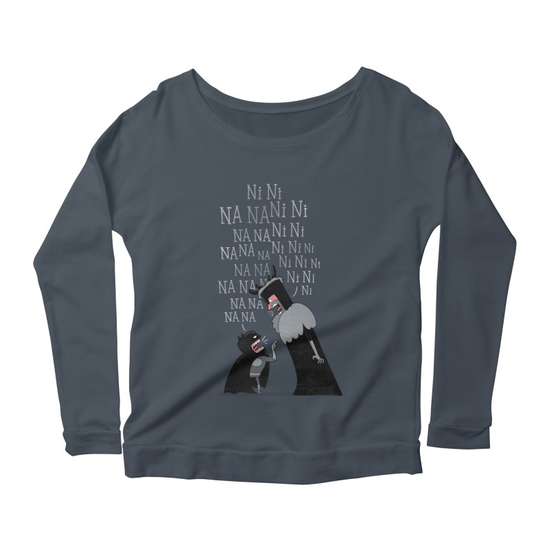 The Knights Who say.... Women's Longsleeve Scoopneck  by The Art of Anna-Maria Jung
