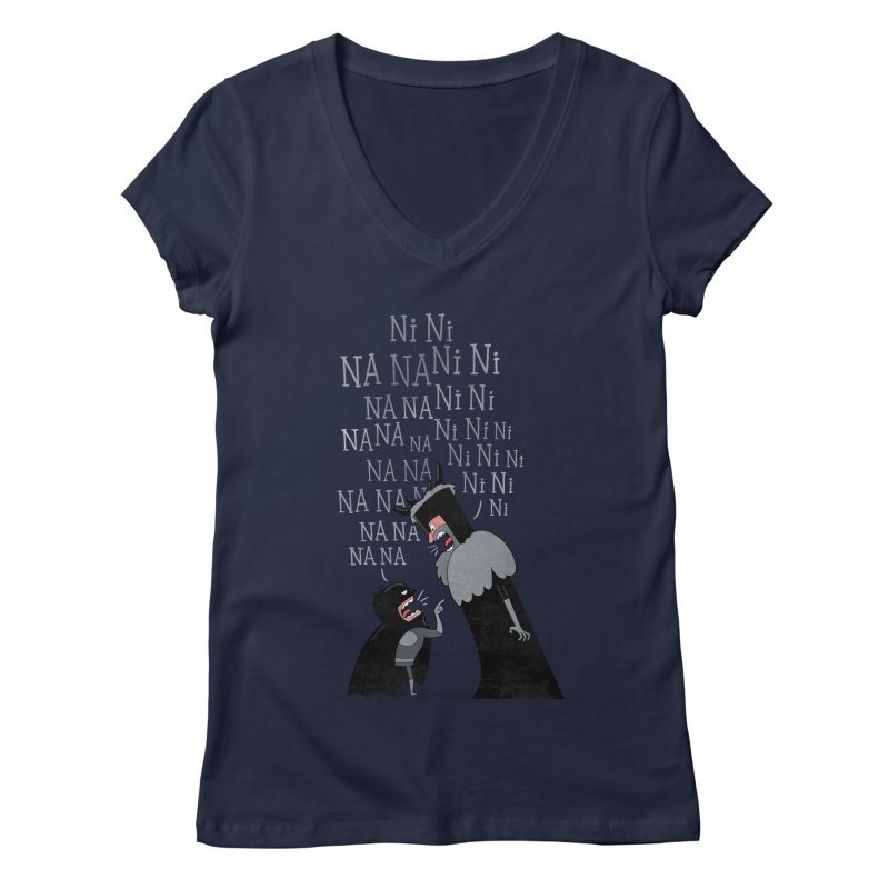The Knights Who say.... Women's V-Neck by The Art of Anna-Maria Jung