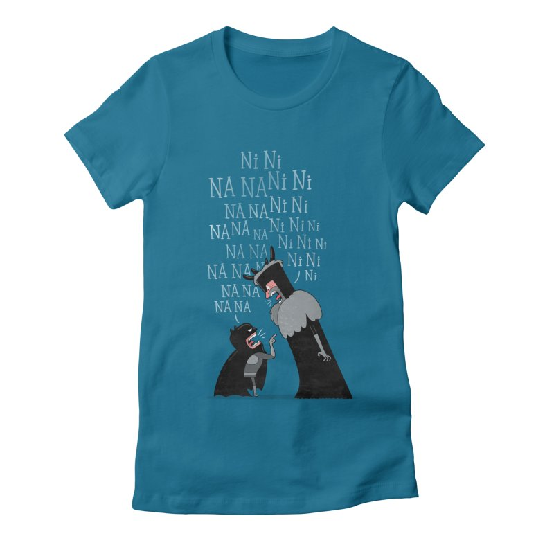 The Knights Who say.... Women's Fitted T-Shirt by The Art of Anna-Maria Jung
