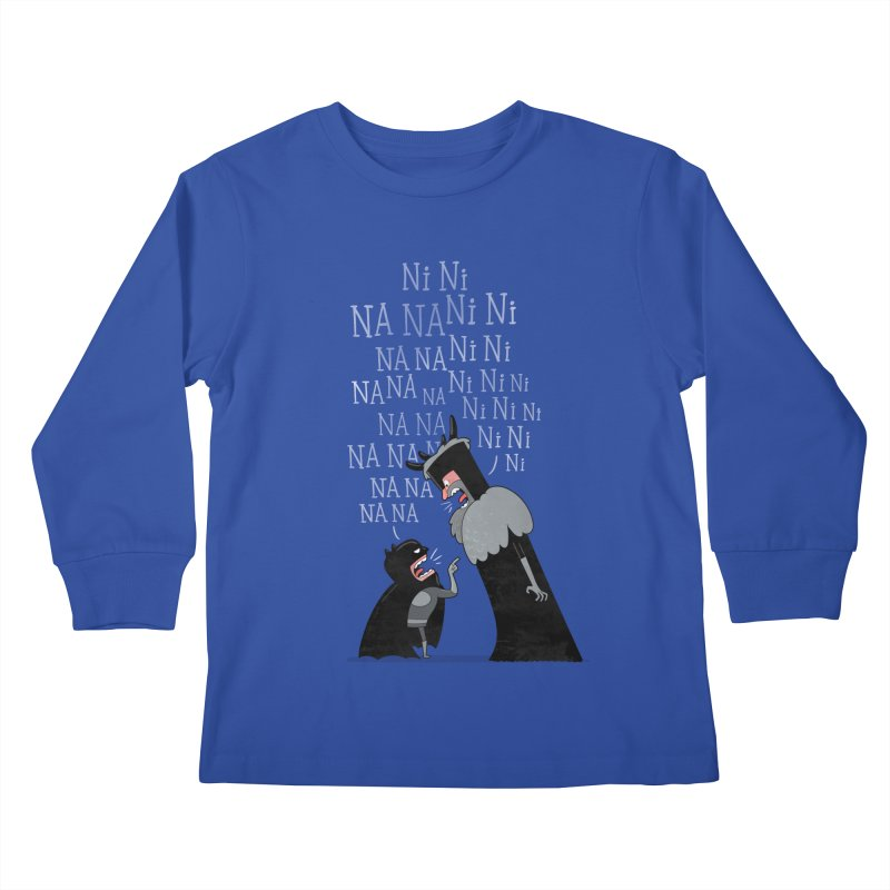 The Knights Who say.... Kids Longsleeve T-Shirt by The Art of Anna-Maria Jung