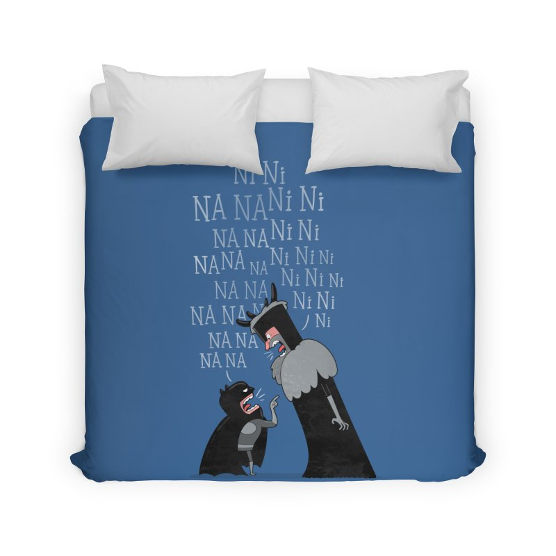 The Knights Who say.... Home Duvet by The Art of Anna-Maria Jung