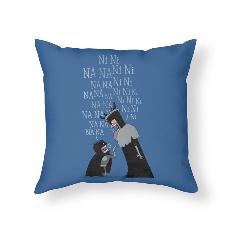 The Knights Who say.... Home Throw Pillow by The Art of Anna-Maria Jung
