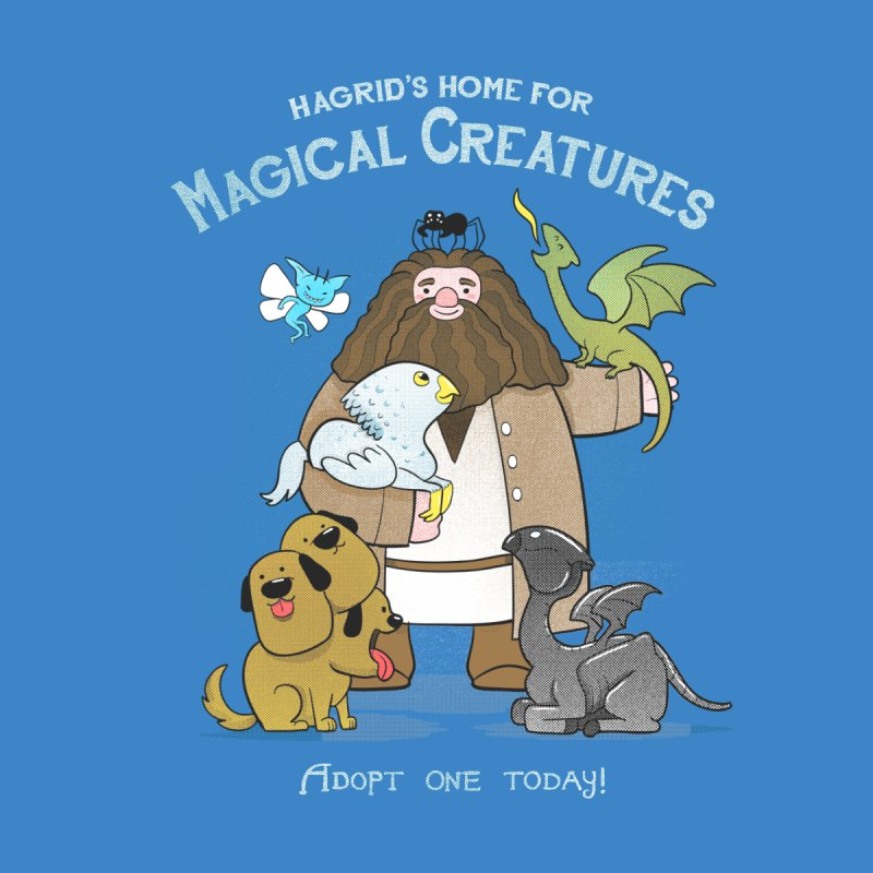 Hagrid's Home for Magical Creatures Kids Longsleeve T-Shirt by The Art of Anna-Maria Jung