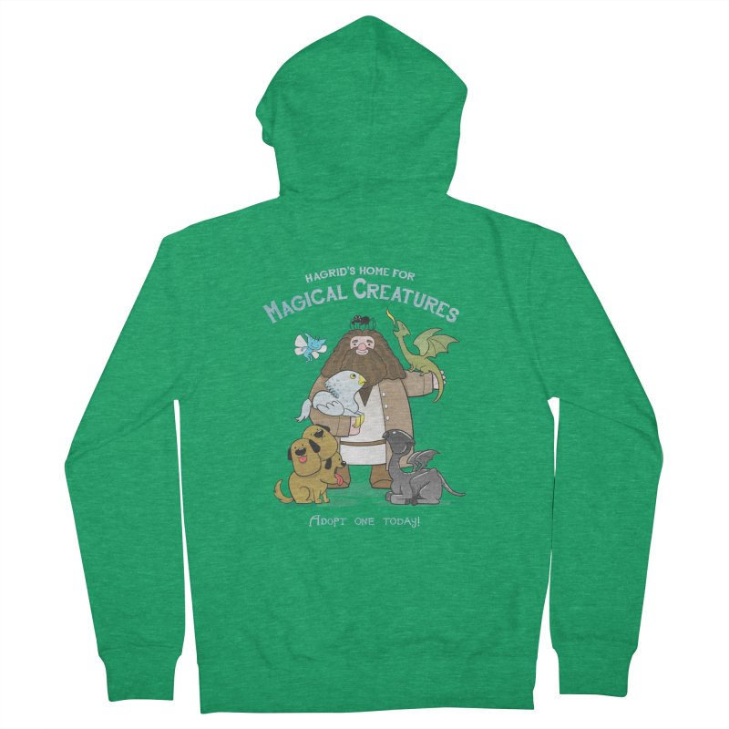 Hagrid's Home for Magical Creatures Men's French Terry Zip-Up Hoody by The Art of Anna-Maria Jung