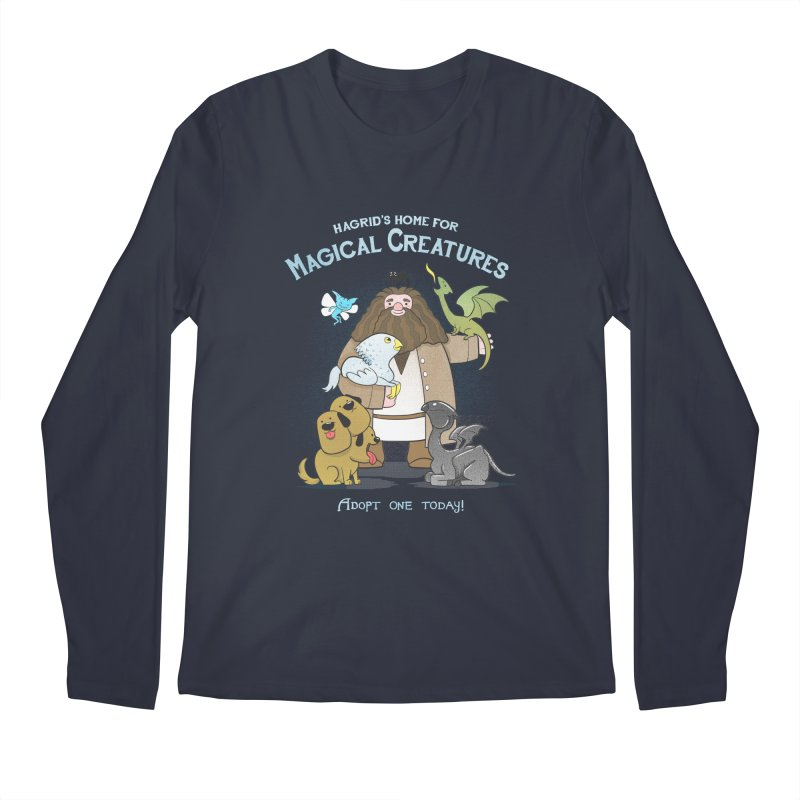 Hagrid's Home for Magical Creatures Men's Longsleeve T-Shirt by The Art of Anna-Maria Jung