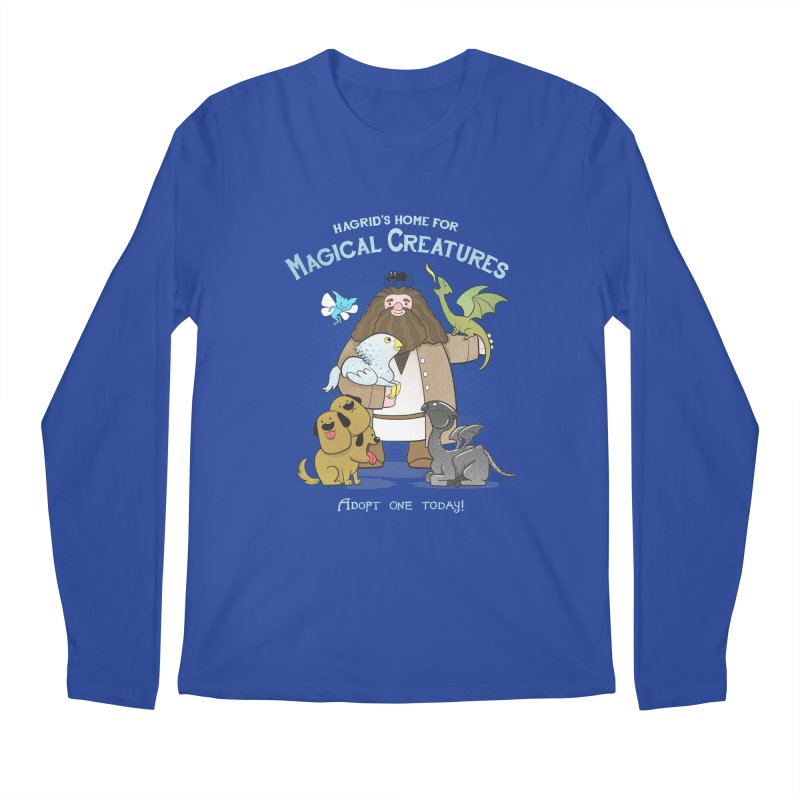 Hagrid's Home for Magical Creatures Men's Regular Longsleeve T-Shirt by The Art of Anna-Maria Jung