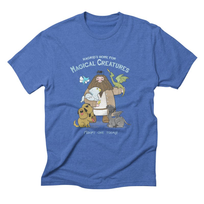 Hagrid's Home for Magical Creatures Men's Triblend T-shirt by The Art of Anna-Maria Jung