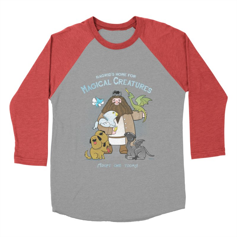Hagrid's Home for Magical Creatures Men's Baseball Triblend T-Shirt by The Art of Anna-Maria Jung