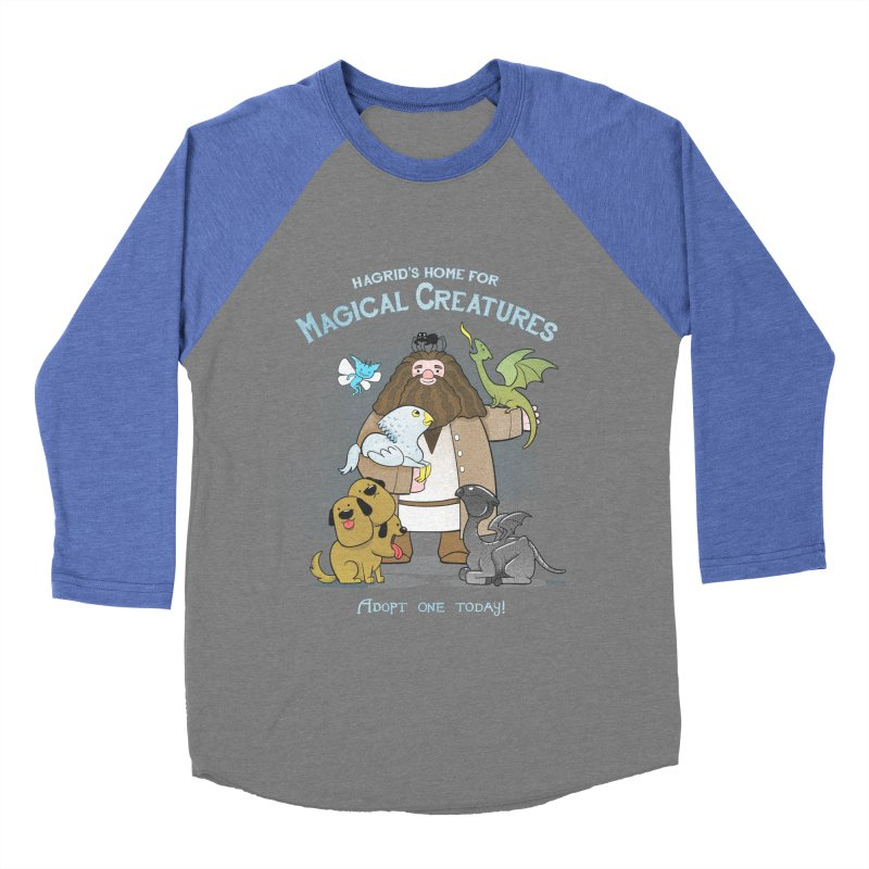 Hagrid's Home for Magical Creatures Men's Baseball Triblend Longsleeve T-Shirt by The Art of Anna-Maria Jung