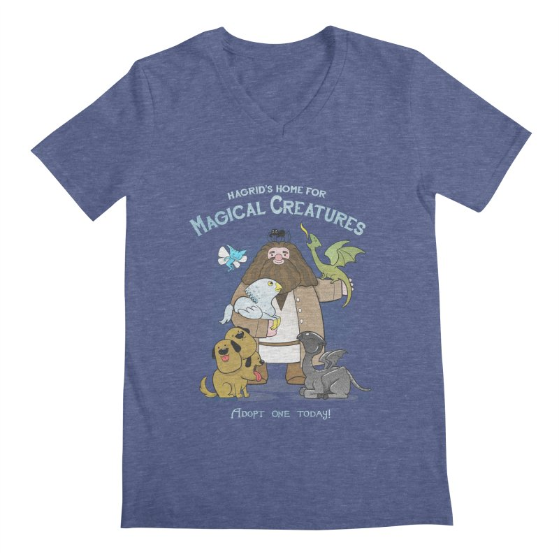 Hagrid's Home for Magical Creatures Men's V-Neck by The Art of Anna-Maria Jung