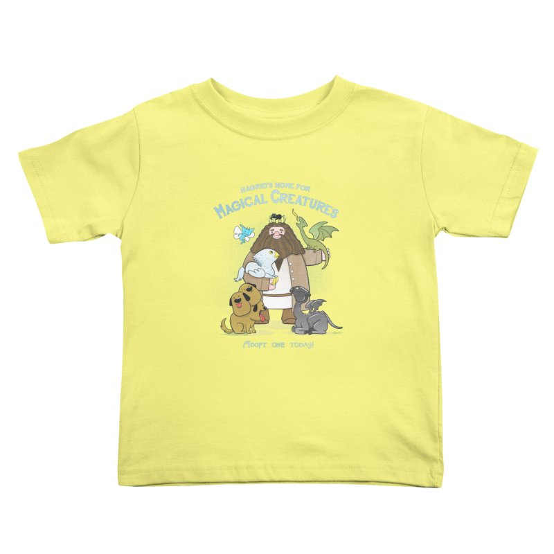 Hagrid's Home for Magical Creatures Kids Toddler T-Shirt by The Art of Anna-Maria Jung