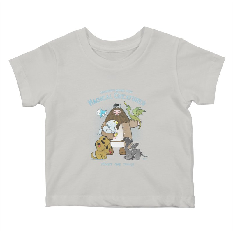 Hagrid's Home for Magical Creatures Kids Baby T-Shirt by The Art of Anna-Maria Jung