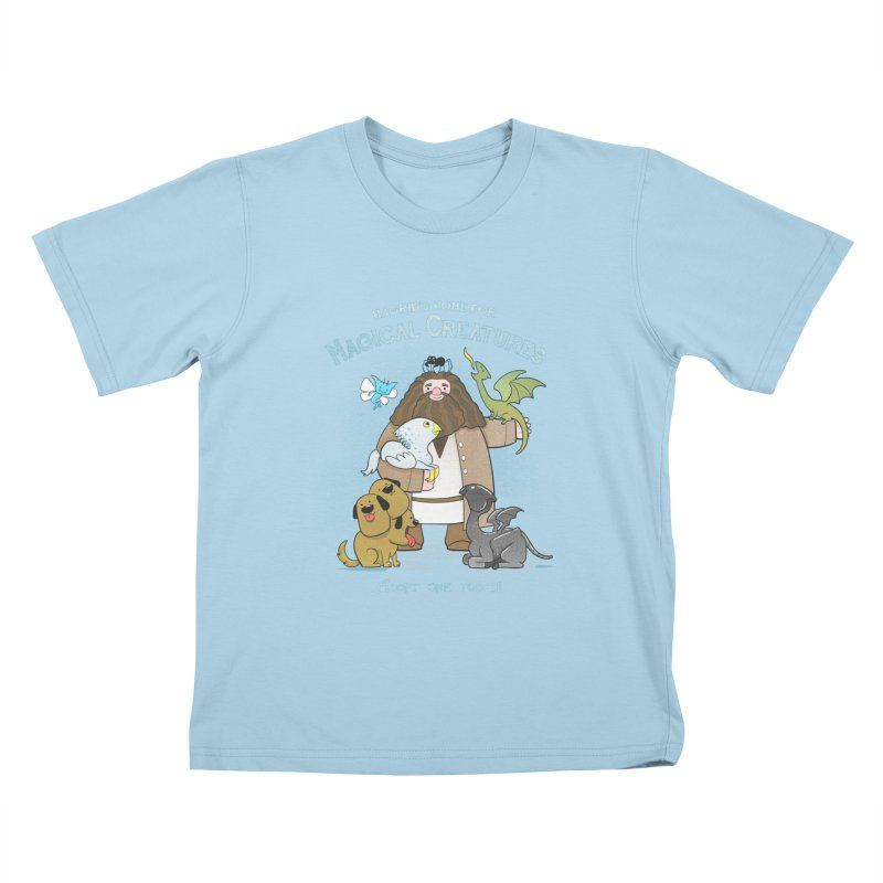 Hagrid's Home for Magical Creatures Kids T-Shirt by The Art of Anna-Maria Jung