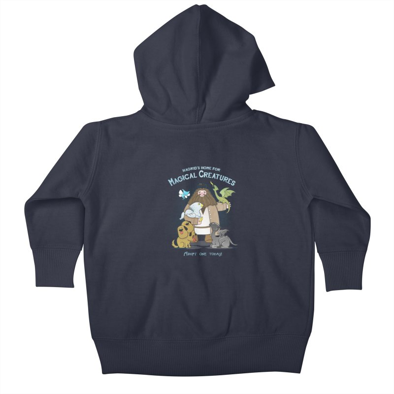 Hagrid's Home for Magical Creatures Kids Baby Zip-Up Hoody by The Art of Anna-Maria Jung