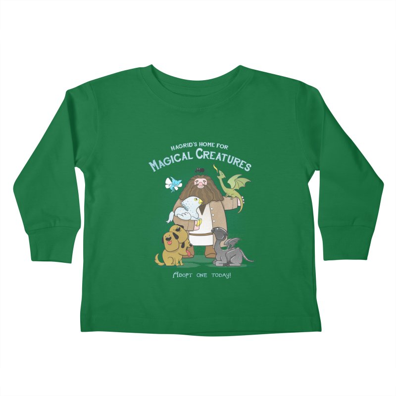 Hagrid's Home for Magical Creatures Kids Toddler Longsleeve T-Shirt by The Art of Anna-Maria Jung