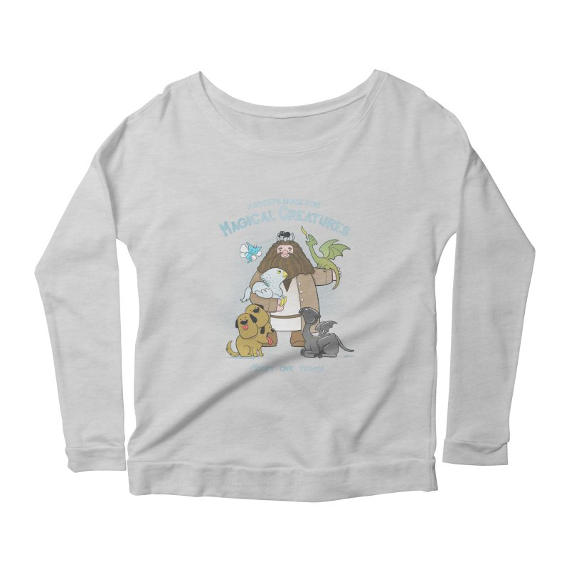 Hagrid's Home for Magical Creatures Women's Longsleeve Scoopneck  by The Art of Anna-Maria Jung